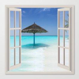 Idyllic Maldives | OPEN WINDOW ART Canvas Print