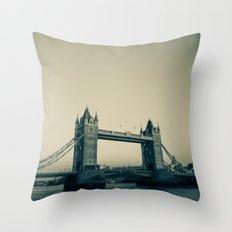 Tower Bridge at dusk Throw Pillow