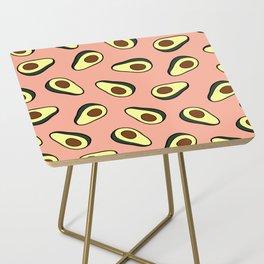 Avocado Pattern in Pink Side Table