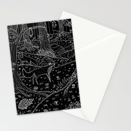 Nocturnal Animals of the Forest Stationery Cards