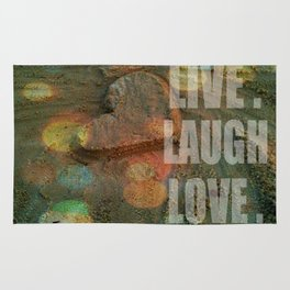 LIVE. LAUGH. LOVE. Rug