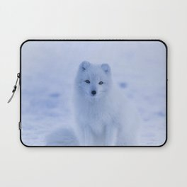 White Snow Fox Softness Laptop Sleeve