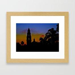 Balboa Park Sunset Framed Art Print