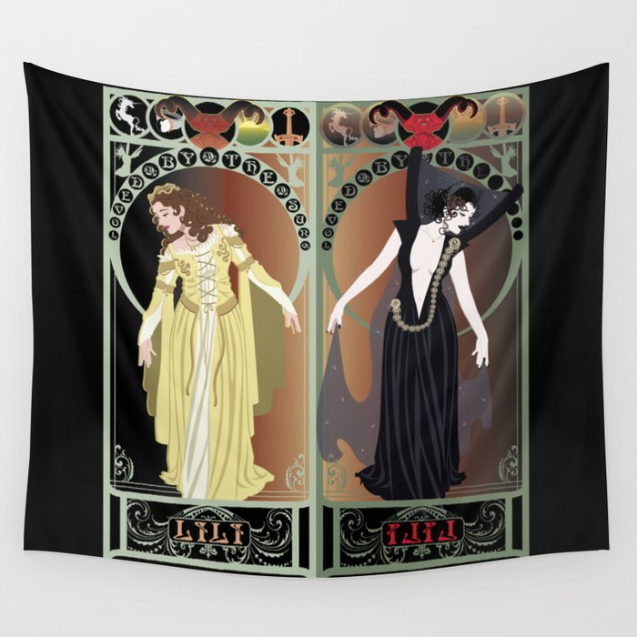 Legend Nouveau - Mirrored Wall Tapestry