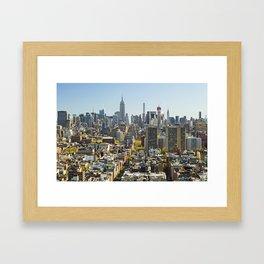 New York City from Tribeca. Framed Art Print