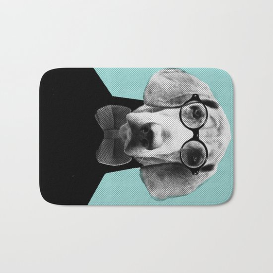 Mr Italian Bloodhound the Hipster Bath Mat