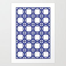 DG GEOMETRIC – COBALT BLUE Art Print