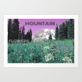 Mount Rainier With A Twist Art Print