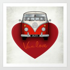 Van Love Art Print