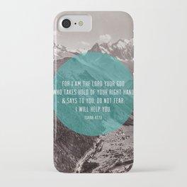 Isaiah 41:13 iPhone Case
