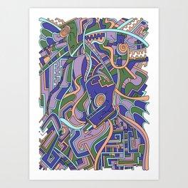 Wandering 44: color variation 2 Art Print