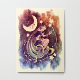 The Moon and the (Rock)Star Metal Print