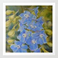 Delicate Delphinium Art Print