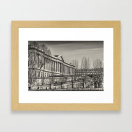Jogger by the river Framed Art Print
