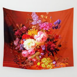 Passion Fruits and Flowers Wall Tapestry