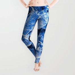 Blue Broken Ice for hot summer days Leggings