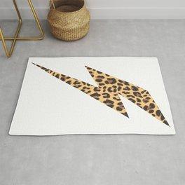 Wild Thing Leopard Lightning Bolt Rug