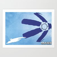 mass effect Art Prints featuring Mass Effect by LightningJinx
