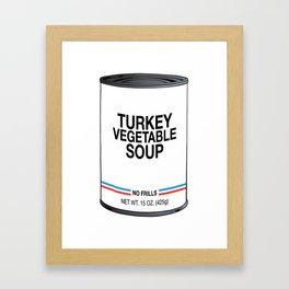 20 Turkey Vegetable Framed Art Print