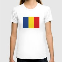 chad wys T-shirts featuring chad country flag by tony tudor