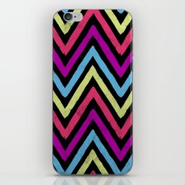 Native Neon Stripes iPhone Skin