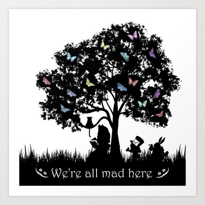 Alice In Wonderland Silhouette Art