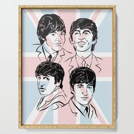 Face The Fab Four 2 Serving Tray