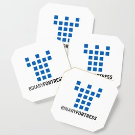 Binary Fortress Software (blue logo) Coaster
