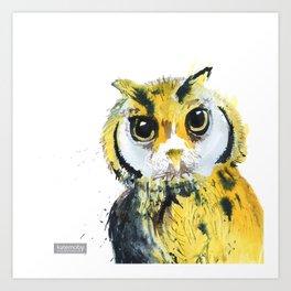 Inky Owl Art Print