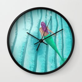 A Mermaid Swim Wall Clock