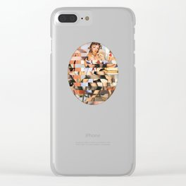 Glitch Pin-Up Redux: Whitney Clear iPhone Case