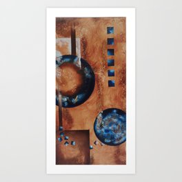 Tale of Two Moons Art Print