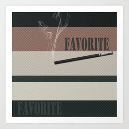 A gift for a man . Favorite male .2 Art Print