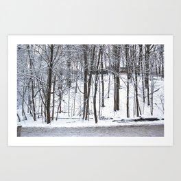 Snowfall at Brickworks on Christmas Day, 2020. LXXIII Art Print