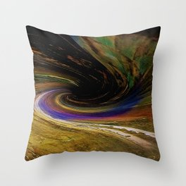 The winding road to the other side Throw Pillow
