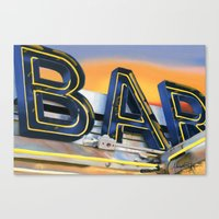 bar Canvas Prints featuring Bar. by Alexandra Johnson