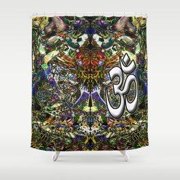 Om Shanti by Kenny Rego Shower Curtain