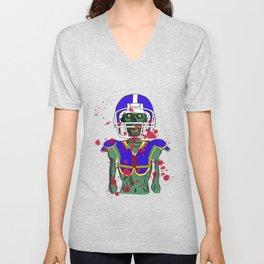 Zombie Football Player Unisex V-Neck