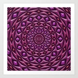 Carved in Stone Mandala Art Print