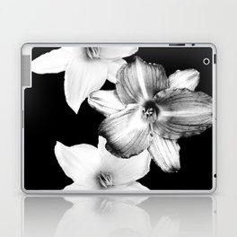 White Lilies on Black #1 #floral #decor #art #society6 Laptop & iPad Skin