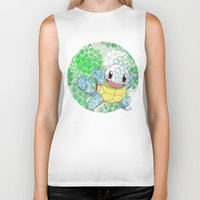 squirtle Biker Tanks featuring Squirtle by Mischievie