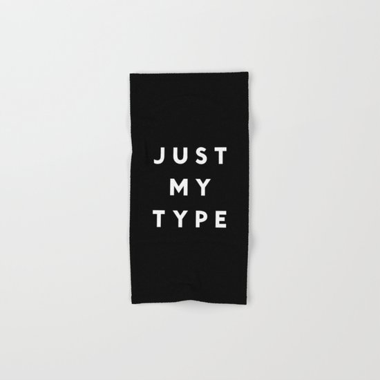 Just My Type Hand & Bath Towel