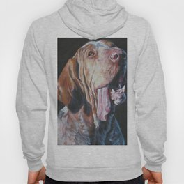 Bracco Italiano dog art portrait from an original painting by L.A.Shepard Hoody