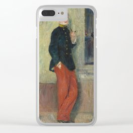 The Young Soldier oil Painting by Auguste Renoir Clear iPhone Case