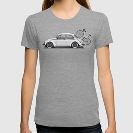 Legendary Classic Bicycle Bug Vintage Retro Cool German Car Wall Art and T-Shirts T-shirt