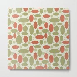 Retro sixties polka dot pattern Metal Print