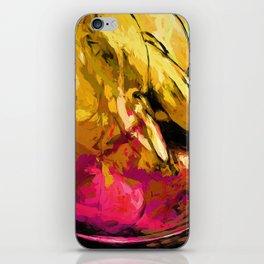 Banana Yellow Pink Splatter True iPhone Skin