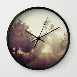 Walking in the fog Wall Clock