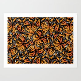 Monarch Butterflies Pattern | Butterfly Pattern | Art Print
