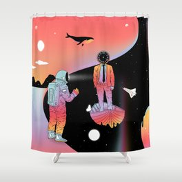 Coexistentiality 2 (A Passing View) Shower Curtain